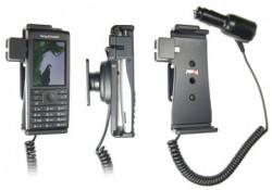 Support voiture  Brodit Sony Ericsson Cedar  avec chargeur allume cigare - Avec rotule orientable. Réf 512218