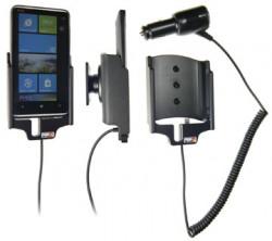 Support voiture  Brodit HTC HD7  avec chargeur allume cigare - Avec rotule orientable. Réf 512220