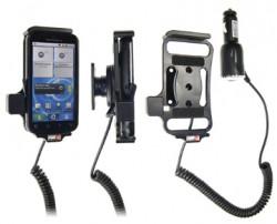 Support voiture  Brodit Motorola Defy  avec chargeur allume cigare - Avec rotule orientable. Réf 512229