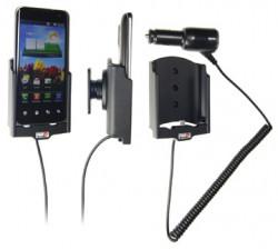Support voiture  Brodit LG Optimus 2X  avec chargeur allume cigare - Avec rotule orientable. Réf 512236