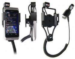 Support voiture  Brodit Nokia E7-00  avec chargeur allume cigare - Avec rotule. Pour un montant position fermée. Réf 512239