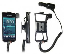 Support voiture  Brodit Sony Ericsson Xperia arc  avec chargeur allume cigare - Avec rotule orientable. Réf 512249