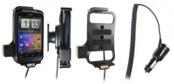 Support voiture  Brodit HTC Wildfire S  avec chargeur allume cigare - Avec rotule orientable. Réf 512256