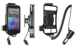 Support voiture  Brodit HTC Sensation  avec chargeur allume cigare - Avec rotule orientable. Réf 512268
