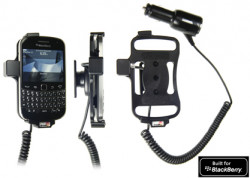 Support voiture  Brodit BlackBerry Bold 9900  avec chargeur allume cigare - Avec rotule orientable. Réf 512271