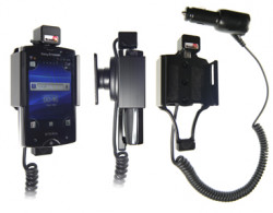 Support voiture  Brodit Sony Ericsson Xperia Mini Pro  avec chargeur allume cigare - Avec rotule orientable. Réf 512281