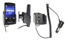 Support voiture  Brodit Sony Ericsson Xperia Mini  avec chargeur allume cigare - Avec rotule orientable. Réf 512282