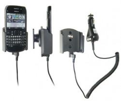 Support voiture  Brodit Nokia E6-00  avec chargeur allume cigare - Avec rotule orientable. Réf 512283
