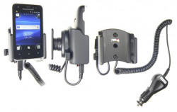 Support voiture  Brodit Sony Ericsson Xperia Active  avec chargeur allume cigare - Avec rotule orientable. Réf 512298