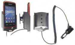 Support voiture  Brodit Samsung Galaxy Xcover GT-S5690  avec chargeur allume cigare - Avec rotule orientable. Réf 512322