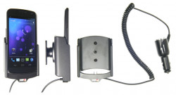 Support voiture  Brodit Samsung Galaxy Nexus GT-I9250  avec chargeur allume cigare - Avec rotule orientable. Réf 512324