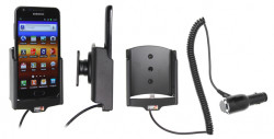 Support voiture  Brodit Samsung Galaxy S II HD LTE  avec chargeur allume cigare - Avec rotule orientable. Réf 512327
