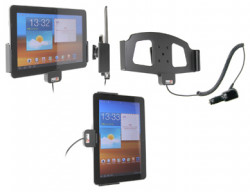 Support voiture  Brodit Samsung Galaxy Tab 10.1 GT-P7500  avec chargeur allume cigare - Avec rotule orientable. Réf 512329