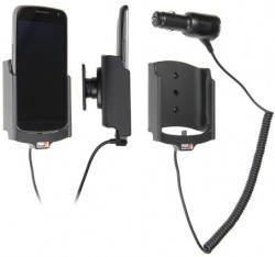 Support voiture  Brodit Samsung Galaxy Nexus SCH-I515  avec chargeur allume cigare - Avec rotule orientable. Réf 512331