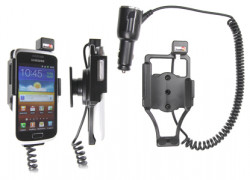 Support voiture  Brodit Samsung Galaxy W GT-I8150  avec chargeur allume cigare - Avec rotule orientable. Réf 512333