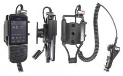 Support voiture  Brodit Nokia Asha 300  avec chargeur allume cigare - Avec rotule orientable. Réf 512357