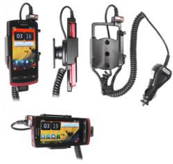 Support voiture  Brodit Nokia 700  avec chargeur allume cigare - Avec rotule orientable. Réf 512358