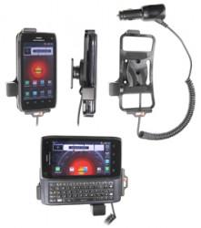 Support voiture  Brodit Motorola Droid 4  avec chargeur allume cigare - Avec rotule orientable. Réf 512375