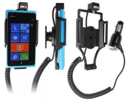 Support voiture  Brodit Nokia Lumia 900  avec chargeur allume cigare - Avec rotule orientable. Réf 512380