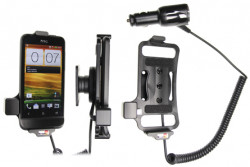 Support voiture  Brodit HTC One V T320e  avec chargeur allume cigare - Avec rotule orientable. Réf 512396