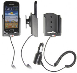 Support voiture  Brodit Samsung Galaxy Ace 2 GT-I8160  avec chargeur allume cigare - Avec rotule orientable. Réf 512405