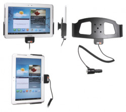 Support voiture  Brodit Samsung Galaxy Tab 2 10.1  avec chargeur allume cigare - Avec rotule orientable. Réf 512415