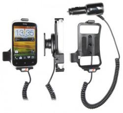 Support voiture  Brodit HTC Desire C  avec chargeur allume cigare - Avec rotule orientable. Réf 512420