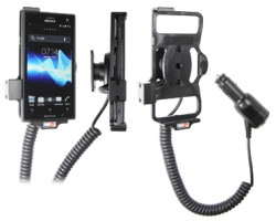 Support voiture  Brodit Sony Xperia Acro S  avec chargeur allume cigare - Avec rotule orientable. Réf 512424
