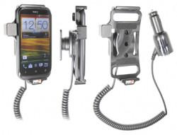 Support voiture  Brodit HTC Desire X  avec chargeur allume cigare - Avec rotule orientable. Réf 512441