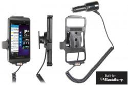 Support voiture  Brodit BlackBerry Z10  avec chargeur allume cigare - Avec rotule orientable. Réf 512447