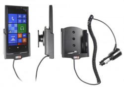 Support voiture  Brodit Nokia Lumia 920  avec chargeur allume cigare - Avec rotule orientable. Réf 512462