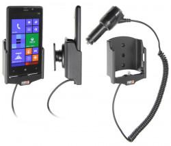 Support voiture  Brodit Nokia Lumia 820  avec chargeur allume cigare - Avec rotule orientable. Réf 512463