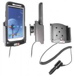 Support voiture  Brodit Samsung Galaxy Note II GT-N7100  avec chargeur allume cigare - Avec rotule. Pour  étui Otterbox Defender (non livré). Réf 512467