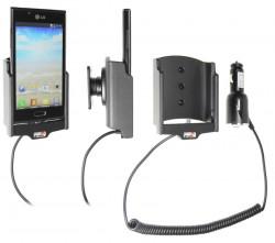 Support voiture  Brodit LG P700  avec chargeur allume cigare - Avec rotule orientable. Réf 512471