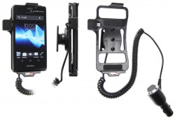 Support voiture  Brodit Sony Xperia T  avec chargeur allume cigare - Avec rotule orientable. Réf 512473