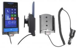Support voiture  Brodit HTC 8S  avec chargeur allume cigare - Avec rotule orientable. Réf 512478