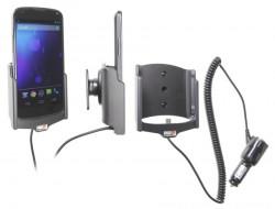 Support voiture  Brodit LG Nexus 4  avec chargeur allume cigare - Avec rotule orientable. Réf 512482