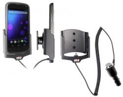 Support voiture  Brodit LG Nexus 4  avec chargeur allume cigare - Avec rotule. Pour appareil avec bumper d'origine. Réf 512488