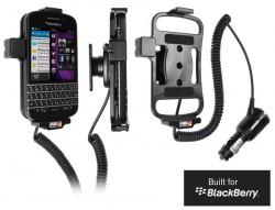 Support voiture  Brodit BlackBerry Q10  avec chargeur allume cigare - Avec rotule orientable. Réf 512489