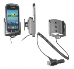 Support voiture  Brodit Samsung Galaxy Xcover 2  avec chargeur allume cigare - Avec rotule orientable. Réf 512507