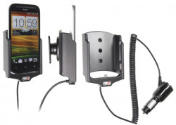 Support voiture  Brodit HTC One SV  avec chargeur allume cigare - Avec rotule orientable. Réf 512530