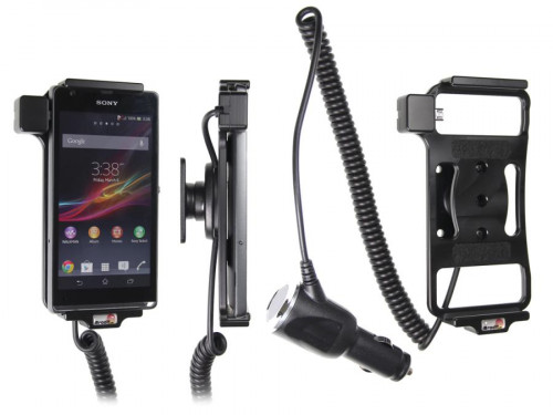 Support voiture  Brodit Sony Xperia SP  avec chargeur allume cigare - Avec rotule orientable. Réf 512533