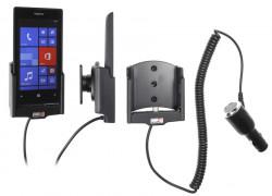 Support voiture  Brodit Nokia Lumia 520  avec chargeur allume cigare - Avec rotule orientable. Réf 512542
