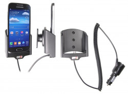 Support voiture  Brodit Samsung Galaxy S4 Mini GT-I9195  avec chargeur allume cigare - Avec rotule orientable. Réf 512544