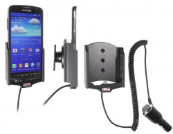Support voiture  Brodit Samsung Galaxy S4 Active GT-I9295  avec chargeur allume cigare - Avec rotule orientable. Réf 512545