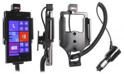 Support voiture  Brodit Nokia Lumia 925  avec chargeur allume cigare - Avec rotule orientable. Réf 512546