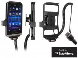 Support voiture  Brodit BlackBerry Z30  avec chargeur allume cigare - Avec rotule orientable. Réf 512547