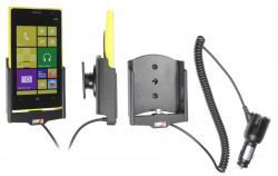 Support voiture  Brodit Nokia Lumia 1020  avec chargeur allume cigare - Avec rotule orientable. Réf 512550
