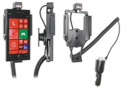 Support voiture  Brodit Nokia Lumia 928  avec chargeur allume cigare - Avec rotule orientable. Réf 512552