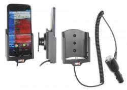 Support voiture  Brodit Motorola Moto X  avec chargeur allume cigare - Avec rotule orientable. Réf 512557